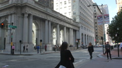 Walking on Sansome Street in San Francisco Stock Footage
