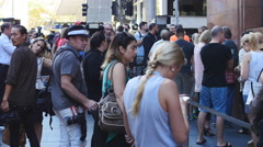 Lindt siege Sydney cafe reopens 3 4K Stock Footage
