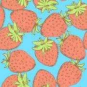 Stock Illustration of Sketch tasty strawberry in vintage style