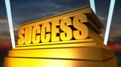 Success Sculpture Stock Footage