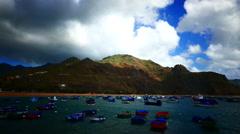 4K UHD Playa de la Teresitas Beach St. Andres Tenerife island coast Canary Stock Footage