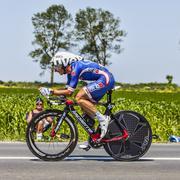 The Cyclist Pierrick Fedrigo Stock Photos
