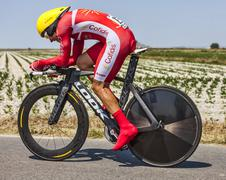 The Cyclist Christophe Le Mevel - stock photo