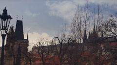 Charles Bridge in Prague. Stock Footage