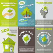 Eco Energy Poster - stock illustration