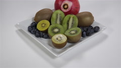 Fruit on a plate. 4K UHD Stock Footage
