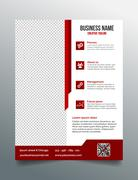 Corporate business flyer template in modern sleek design - stock illustration