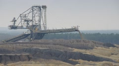 A giant spreader in open coal mine. Stock Footage