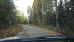 Autumn drive in cottage country. Haliburton, Ontario, Canada. Stock Footage