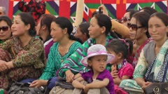 Spectators at Silk Route Festival,Sumur,Ladakh,India Stock Footage