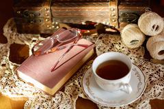 Afternoon tea. Stock Photos