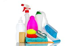 Cleaning products. Stock Photos