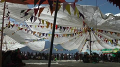A singer in a big tent,Sumur,Ladakh,India Stock Footage
