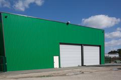 Stock Photo of The exterior of a modern warehouse