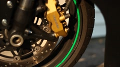 Motorcycle tire Stock Footage
