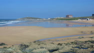 Stock Video Footage of Fistral beach Newquay incoming tide timelapse