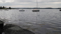 Boats at bay Stock Footage