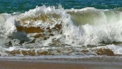 Colorful colored water wave ocean splashing formation slow motion Stock Footage