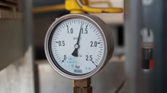 The instrument shows the pressure gauge - stock footage