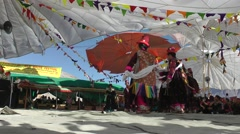 Ladies dance a traditional dance at Festival,Sumur,Ladakh,India Stock Footage