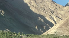 View on back mountains,Sumur,Ladakh,India Stock Footage