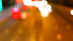 Abstract night traffic lights - seamless loop Stock Footage