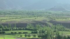 View on Matho from Tiksey,Matho,Ladakh,India Stock Footage