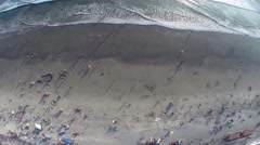 Ocean Beach Satellite view-1 - stock footage