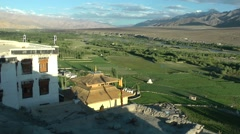 View on Indus valley from Spitok,Spitok,Ladakh,India Stock Footage