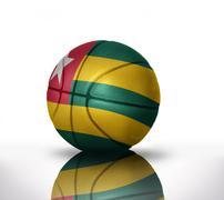 Togo basketball Stock Illustration