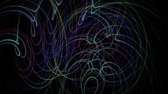 Fantastic video animation with stripe object in motion, loop HD 1080p - stock footage
