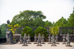 Tomb of Khai Dinh emperor in Hue, Vietnam Stock Photos