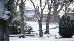 England in the snow Stock Footage