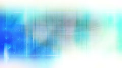 Blue and white futuristic abstract - stock footage