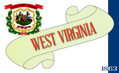 West Virginia Scroll - stock illustration