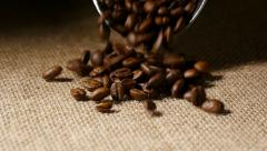 Coffee Beans pouring in slow motion Stock Footage