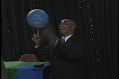 Globetrotters Curly Neal Spinning Basketball Stock Footage