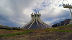 View of Cathedral of Brasilia, Brazil Stock Footage