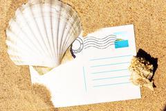 Summer post card. - stock photo