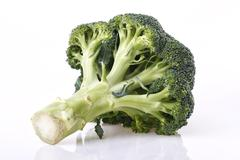Broccoli vegetable on white Stock Photos