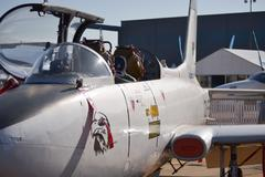 Fighter jet profile - stock photo