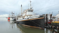 Trawlers in Steveston, British Columbia, Canada. Stock Footage