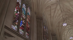 St. Patricks Cathedral. Cathedral in New York City. Church in Manhattan. - stock footage