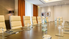 Meeting room in the premium class business center - stock footage