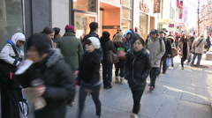 Crowds of people in downtown Toronto Stock Footage
