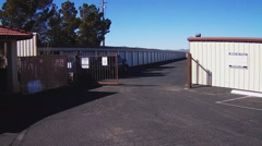 POV Entering Personal Storage Business Driving Past Units Stock Footage