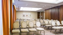 Empty conference hall in premium business center - stock footage