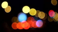 Blurred carlight Stock Footage