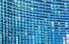Blue Glassy Building - stock photo