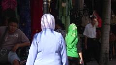 A muslim girl in Kuching, Malaysia Stock Footage